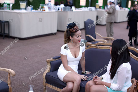 Marcela Valladolid, left, is seen at A Taste of the World presented by Breeders' Cup and Grey Goose Vodka on Day 1 of Breeders' Cup World Championships held at Huntington Garden, in San Marino, Calif