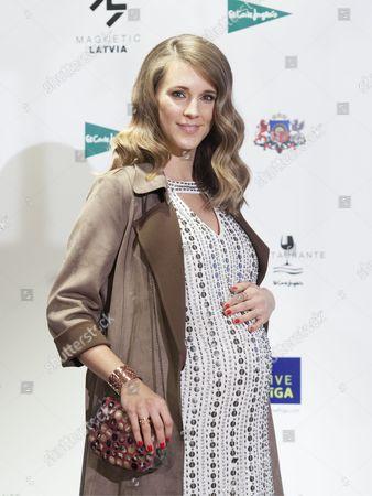 Astrid Klisans, woman of the Venezuelan singer Carlos Baute