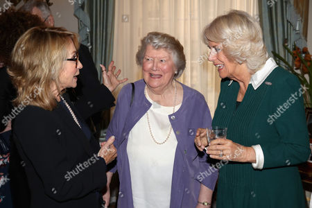 Felicity Kendal, Dame Patricia Routledge and Camilla Duchess of Cornwall