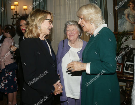 Camilla Duchess of Cornwall (right) with Felicity Kendal (left) and Dame Patricia Routledge during a reception to celebrate the launch of the Royal Voluntary Service's 'Our Amazing People' campaign, at Clarence House