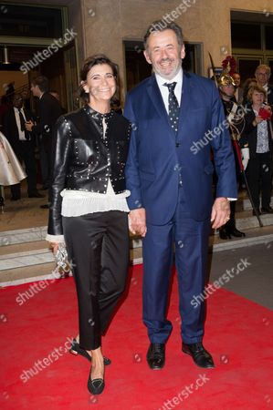 Guillaume Sarkozy and his wife Christine