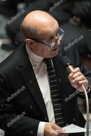 Stock Picture of Defense Minister, Jean-Yves Le Brian