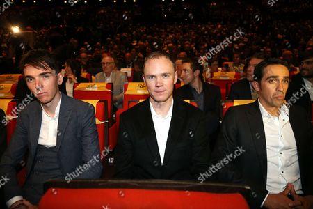 Romain Bardet (AG2R LA MONDIALE); Chris Froome (Sky), Alberto Contador (Trek-Segafredo)