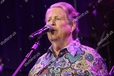 """Singer Brian Wilson performs at the """"Right To Rock Benefit"""" at Cipriani Wall Street, in New York. Wilson says with time, he's become a stronger performer. He is currently on a joint tour with Jeff Beck. which wraps Oct. 30, in Milwaukee, Wis. and includes Al Jardine and David Marks"""