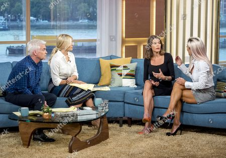 Phillip Schofield and Holly Willoughby with Liz Fraser and Danni Levy