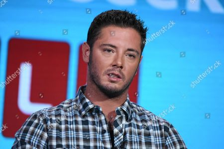 """Mike McGill appears on stage during the """"Single Dad Seeking.."""" panel at the TLC 2016 Winter TCA, in Pasadena, Calif"""