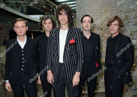 Stock Picture of The Horrors - Coffin Joe, Joshua Hayward, Faris Badwan, Tomethy Furse and Rhys Webb