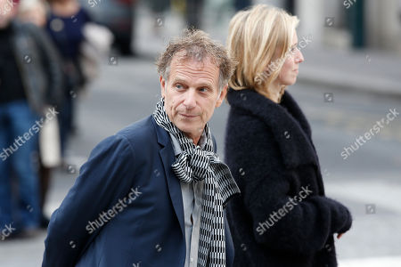 French actors Charles Berling, and Lea Drucker arrive to the funeral ceremony for French actor Jean Rochefort at the Saint Thomas d'Aquin church in Paris, . French actor Jean Rochefort, who starred in more than 100 movies over a half-century and was much loved by the French public, has died. He was 87