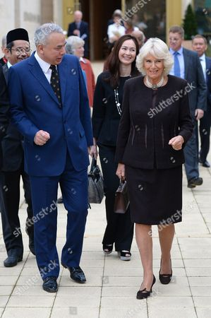 Stock Picture of Camilla Duchess of Cornwall visits Worcester College Oxford with His Royal Highness Sultan Raja Nazrin Shah of Perak, Malaysia