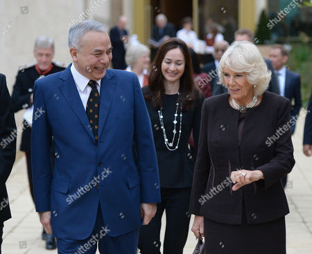 Stock Photo of Camilla Duchess of Cornwall visits Worcester College Oxford with His Royal Highness Sultan Raja Nazrin Shah of Perak, Malaysia