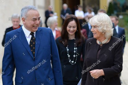 Editorial photo of Camilla Duchess Of Cornwall visit to Worcester College, Oxford, UK - 18 Oct 2017