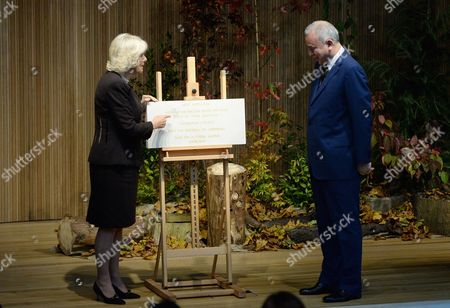 Camilla Duchess of Cornwall visits Worcester College Oxford with His Royal Highness Sultan Raja Nazrin Shah of Perak, Malaysia