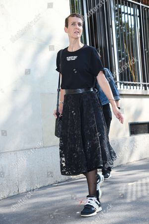 Editorial picture of Street Style, Spring Summer 2018, Paris Fashion Week, France - 26 Sep 2017