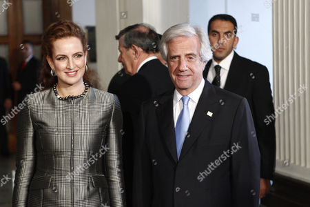 Princess of Morocco, SAR Lalla Salma (L), and President of Uruguay, Tabare Vazquez (R), attend the World Conference on Non-Communicable Diseases (NCD) of the World Health Organization (WHO) in Montevideo, Uruguay, 18 October 2017. The international forum will bring together heads of state, representatives of civil organizations, academics and some 30 ministerial authorities from countries in Africa, America, Asia and Europe.