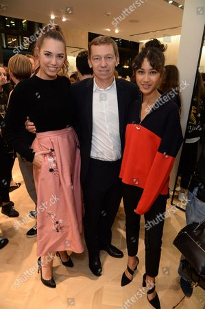Amber Le Bon, Jean Philippe Hecquet and Fenn Omeally