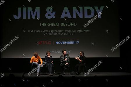 Spike Jonze (Producer), Chris Smith (Director), Jim Carrey, Eric Kohn (Moderator)