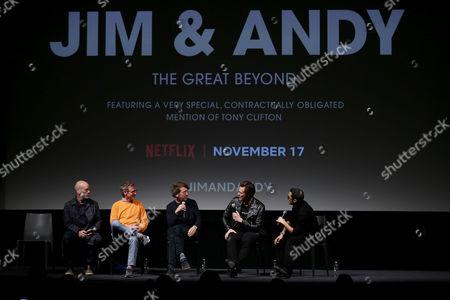 Michael Stipe, Spike Jonze (Producer), Chris Smith (Director), Jim Carrey, Eric Kohn (Moderator)