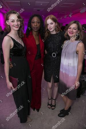 Helena Wilson (Bolette), Nikki Amuka-Bird (Ellida Wangel), Ellie Bamber (Hilde) and Elinor Cook (Adaptation)