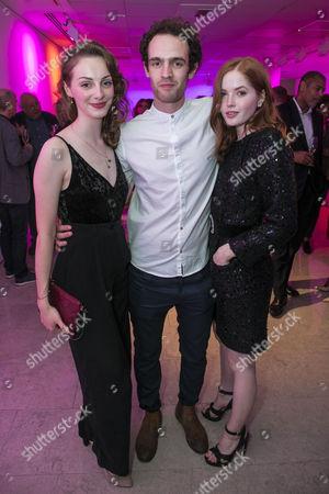 Helena Wilson (Bolette), Jonny Holden (Lynstrand) and Ellie Bamber (Hilde)