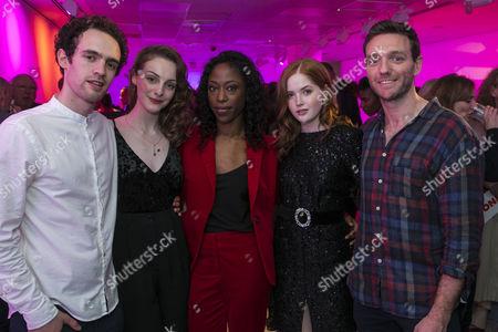 Jonny Holden (Lynstrand), Helena Wilson (Bolette), Nikki Amuka-Bird (Ellida Wangel), Ellie Bamber (Hilde) and Tom McKay (Arnholm)