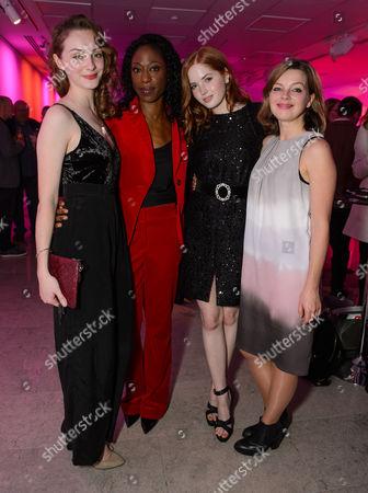 Helena Wilson, Nikki Amuka-Bird and Ellie Bamber with Elinor Cook