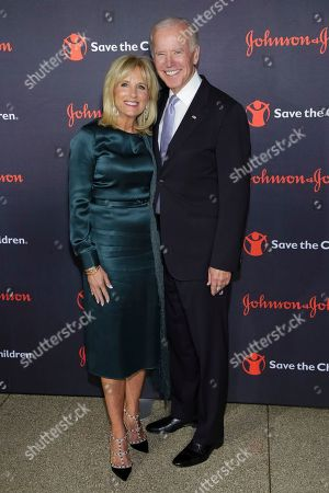 Jill Biden, Joseph R. Biden, Jr. Dr. Jill Biden, left, and Former Vice President Joe Biden attend the 5th Annual Save The Children Illumination Gala at The American Museum of Natural History, in New York