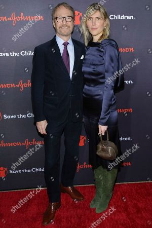 Stock Photo of Austin Hearst, Gabriela Hearst. Save The Children Trustee Austin Hearst, left, and Gala Co-Chair Gabriela Hearst attend the 5th Annual Save The Children Illumination Gala at The American Museum of Natural History, in New York
