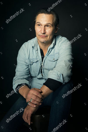Nick Damici poses for a portrait at Quaker Good Energy Lodge with GenArt and the Collective, during the Sundance Film Festival, on in Park City, Utah