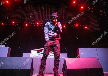 Anthony David performs with Sa-Roc during the Nobody's Smiling tour at The Tabernacle, in Atlanta