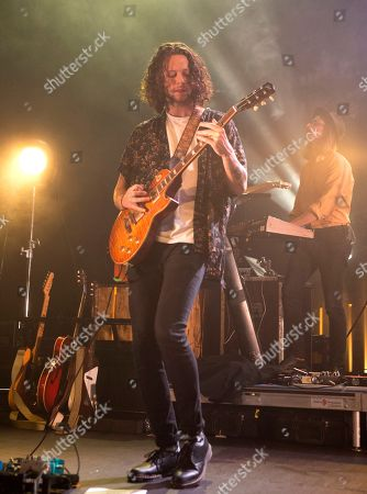 "Rubin Pollock of the band Kaleo performs in concert during their ""Kaleo Express Tour"" at the Tower Theater, in Upper Darby, Pa"