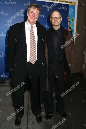"""Brian Hargrove, left, and David Hyde Pierce attend the Broadway opening night of """"The Audience"""" at The Gerald Schoenfeld Theatre, in New York. Pierce is directing, not acting, in the romantic comedy musical """"It Shoulda Been You"""" and calling the shots. The former """"Frasier"""" star has a personal reason to be involved in the show: The wedding-themed """"It Shoulda Been You,"""" which opens Wed., April 14, 2015, has a story and lyrics by Hargrove, Pierce's husband"""