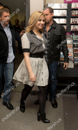 Stock Picture of Demi Levato arrives at a HMV store in Oxford Street, central London, before the U.S singer meets fans and promotes her album