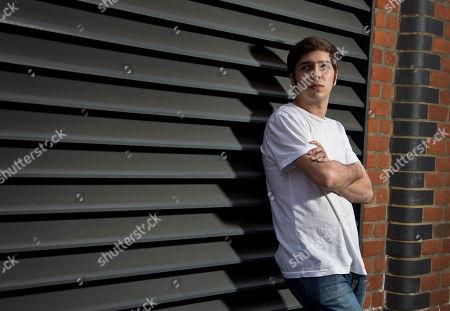 Josh Kumra poses for portraits at The Interchange in Camden Lock, north London