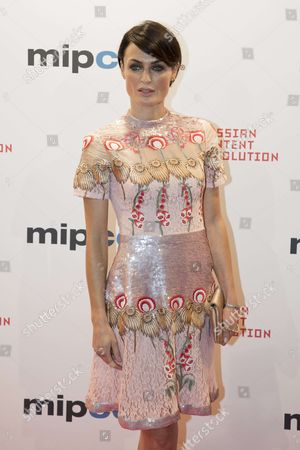 """Lyne Renee (belgian actress) for the film """"Deep State"""" attend the Opening Red Carpet Party MIPCOM 2017 at Hotel Carlton"""