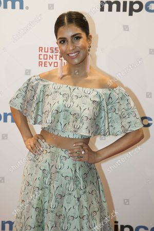"""Pallavi Sharda (actress) for the film """"Pulse"""" attend the Opening Red Carpet Party MIPCOM 2017 at Hotel Carlton"""