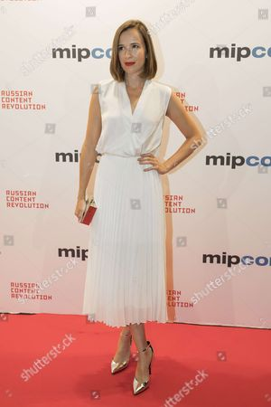 "Claire van der Boom (actress) for the film ""Pulse"" attend the Opening Red Carpet Party MIPCOM 2017 at Hotel Carlton"