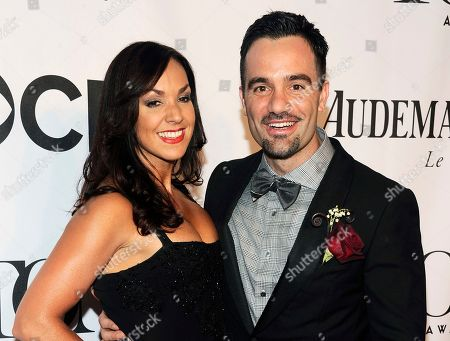 """Ramin Karimloo, right, and Amanda Karimloo arrive at the 68th annual Tony Awards in New York. Ramin Karimloo will star in the musical stage adaptation of the 1997 animated musical film """"Anastasia,"""" on Broadway"""