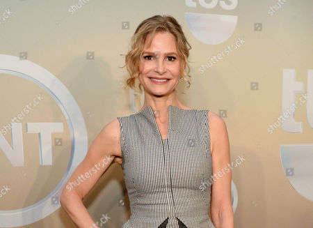 "Actress Kyra Sedgwick poses backstage at the TNT and TBS Network 2014 Upfront Presentations at Madison Square Garden in New York. The actress will be starring in John Patrick Shanley new play ""The Danish Widow"" on the campus of Vassar College this summer. Sedgwick, star of 'The Closer,'? will play an insurance investigator in Shanley's play from July 16-27, which also will star Broadway veterans Craig Bierko and Matt McGrath, as well as stage and screen actress Annika Boras"