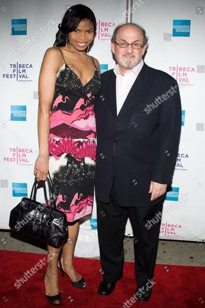 Pia Glenn and Salman Rushdie