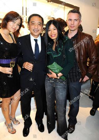 Stock Image of Guest with Silas Chou, Vanessa Mae and boyfriend Lionel Catelan