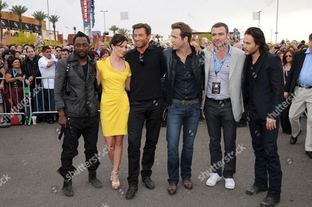 Will.i.am,  Lynn Collins, Hugh Jackman, Ryan Reynolds, Liev Scheiber and Taylor Kitsch