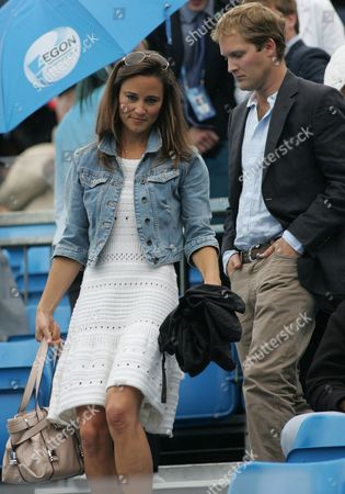 London England - June 09: Pippa Middleton with George Percy Leaves Centre Court As Rain Delays Play During the Men's Singles Third Round Match Between Andy Roddick of the United States and Kevin Anderson of South Africa On Day Four of the Aegon Championships at Queens Club Now That Pippa Middleton Has Parted From Her Banker Boyfriend Handsome Former Cricketer Alex Loudon the Arduous Task of Consoling Her Royal Hotness Appears to Have Fallen to an Extremely Eligible Young Bachelor: One George Percy On June 9 2011 in London England People: Pippa Middleton_george Percy23 ***no Uk*** United Kingdom London