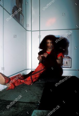 Evelyn Champagne King Photographed at the Private Eyes Night Club On March 5 1986 Â