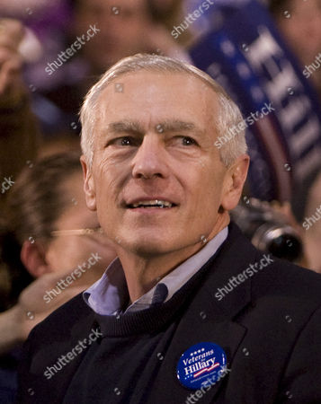 General Wesley Clark Pictured at a Hillary Clinton Supporter Rally at Greenspun Middle School in Henderson Nevada January 18 2008 Â United States Henderson