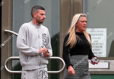Michael Thornton and Hayley Eldridge alleged owner of dog which caused injury to 18-month-old Victoria  Resetnjova when it atacked her in a park in Chatham, Kent. The animal in question, a pitbull-type dog, was shot dead by police