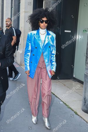 Editorial picture of Street Style, Spring Summer 2018, Paris Fashion Week, France - 01 Oct 2017