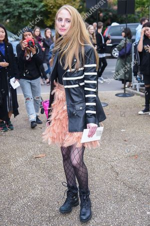 Editorial image of Street Style, Spring Summer 2018, Paris Fashion Week, France - 02 Oct 2017