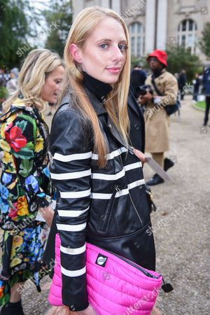 Editorial picture of Street Style, Spring Summer 2018, Paris Fashion Week, France - 02 Oct 2017