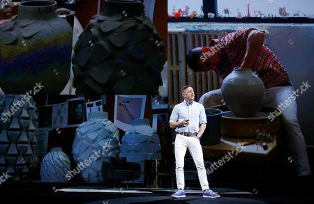 Potter and designer Jonathan Adler speaks during Adobe MAX 2017, in Las Vegas