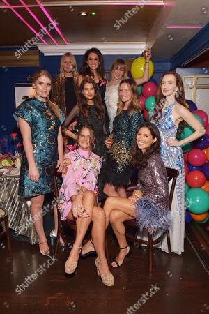 Lady Kitty Spencer, Marissa Montgomery, Rosanna Falconer, Sarah Mikaela, Sarah Ann Macklin, Kelly Eastwood, Olivia Grant, Lady Jemima Herbert and Jasmine Hemsley.